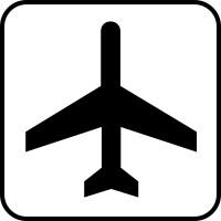 200x200 Airplane Clipart No Black