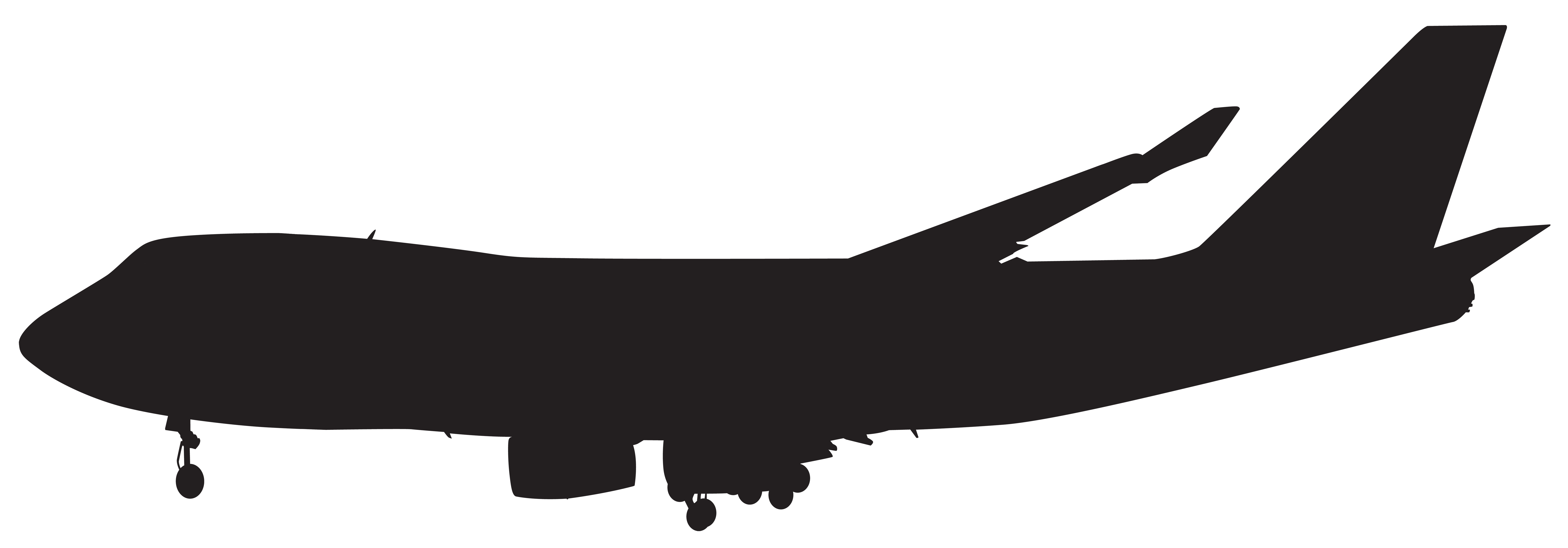 8000x2799 Airplane Silhouette Png Clip Artu200b Gallery Yopriceville