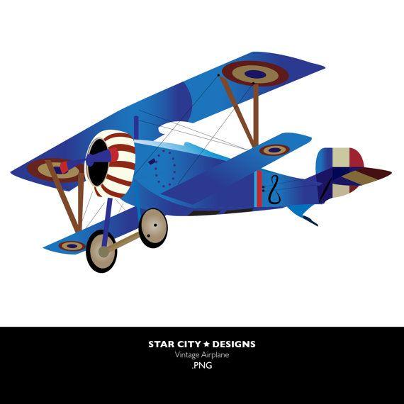 570x570 Blue Vintage Plane Clipart