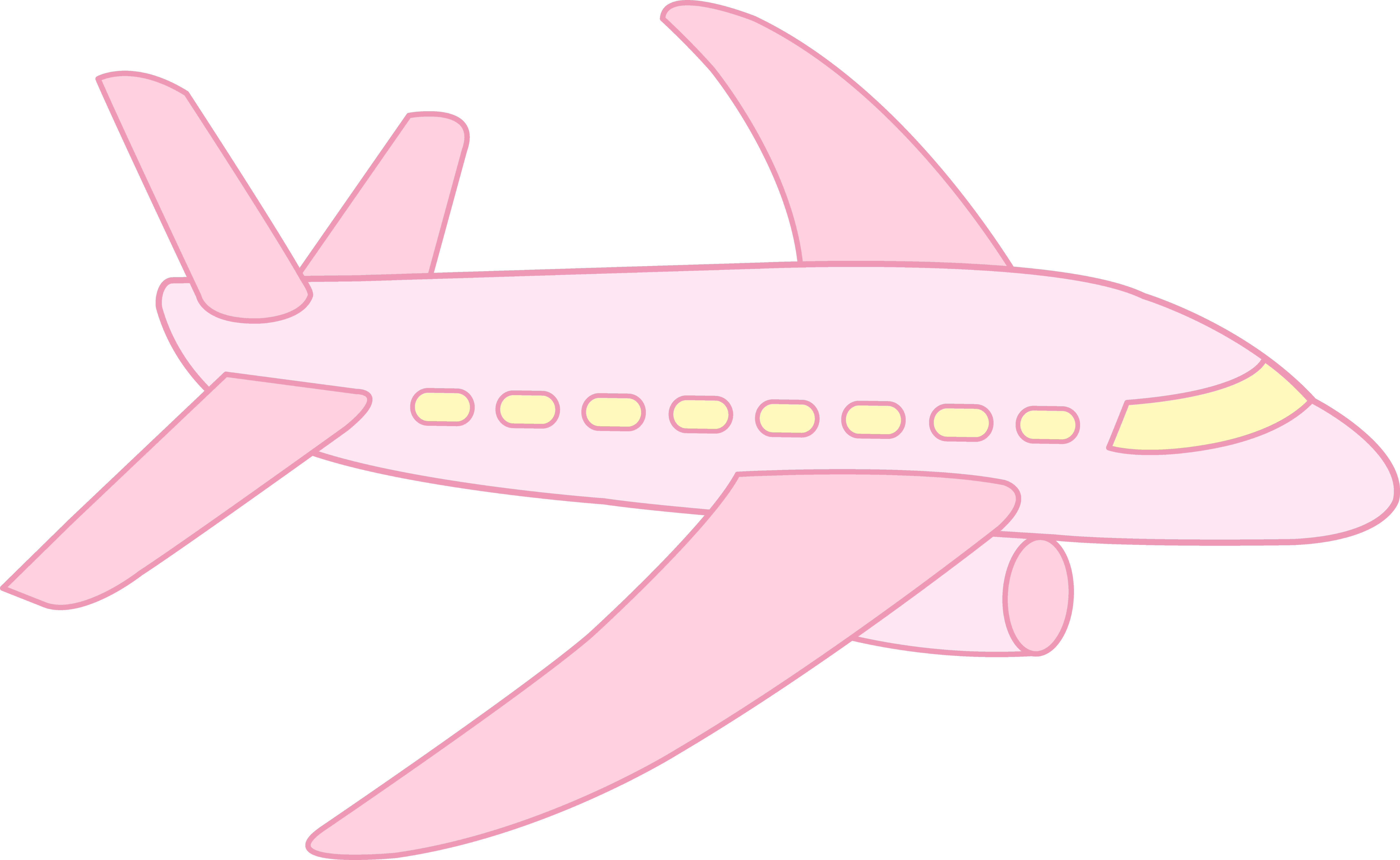 8669x5328 Cute Pink Airplane