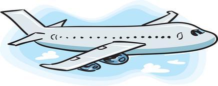 436x173 Free Airplane Clip Art Image