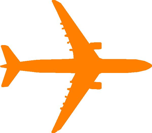 600x525 Orange Plane Clip Art