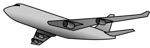 606x196 Airplane Clip Art