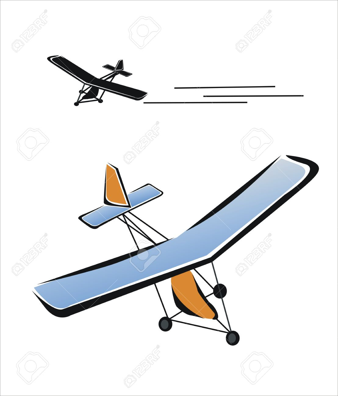 1108x1300 Drawing Of A Microlight Flying Royalty Free Cliparts, Vectors,