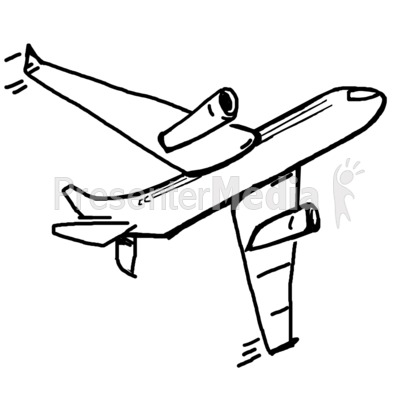 400x400 Drawing Clipart Airplane