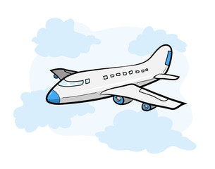 305x240 Drawn Aircraft Airplane Flying