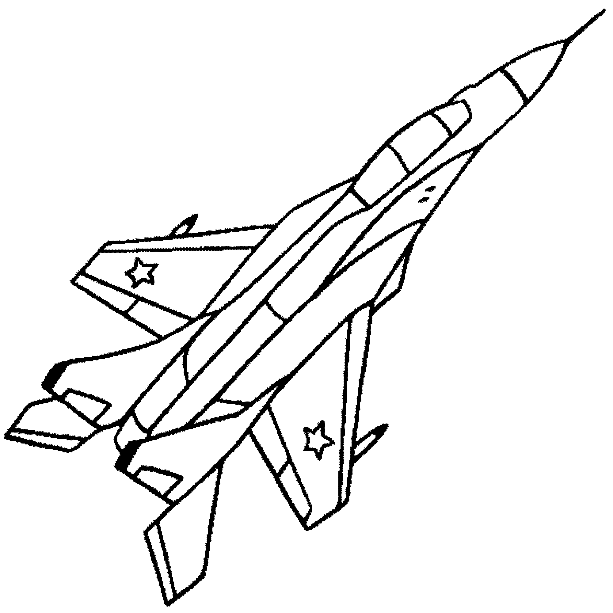 2000x2000 Drawn Aircraft Jet