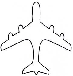 242x250 Drawn Airplane Printable