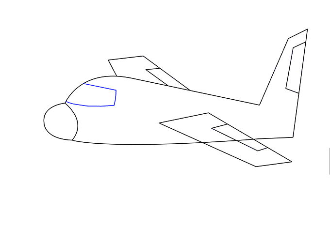 680x500 How To Draw An Airplane Easy Drawing Guides