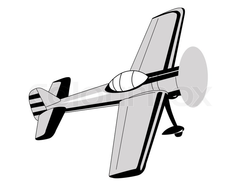 800x615 Plane Drawing On White Background Stock Photo Colourbox