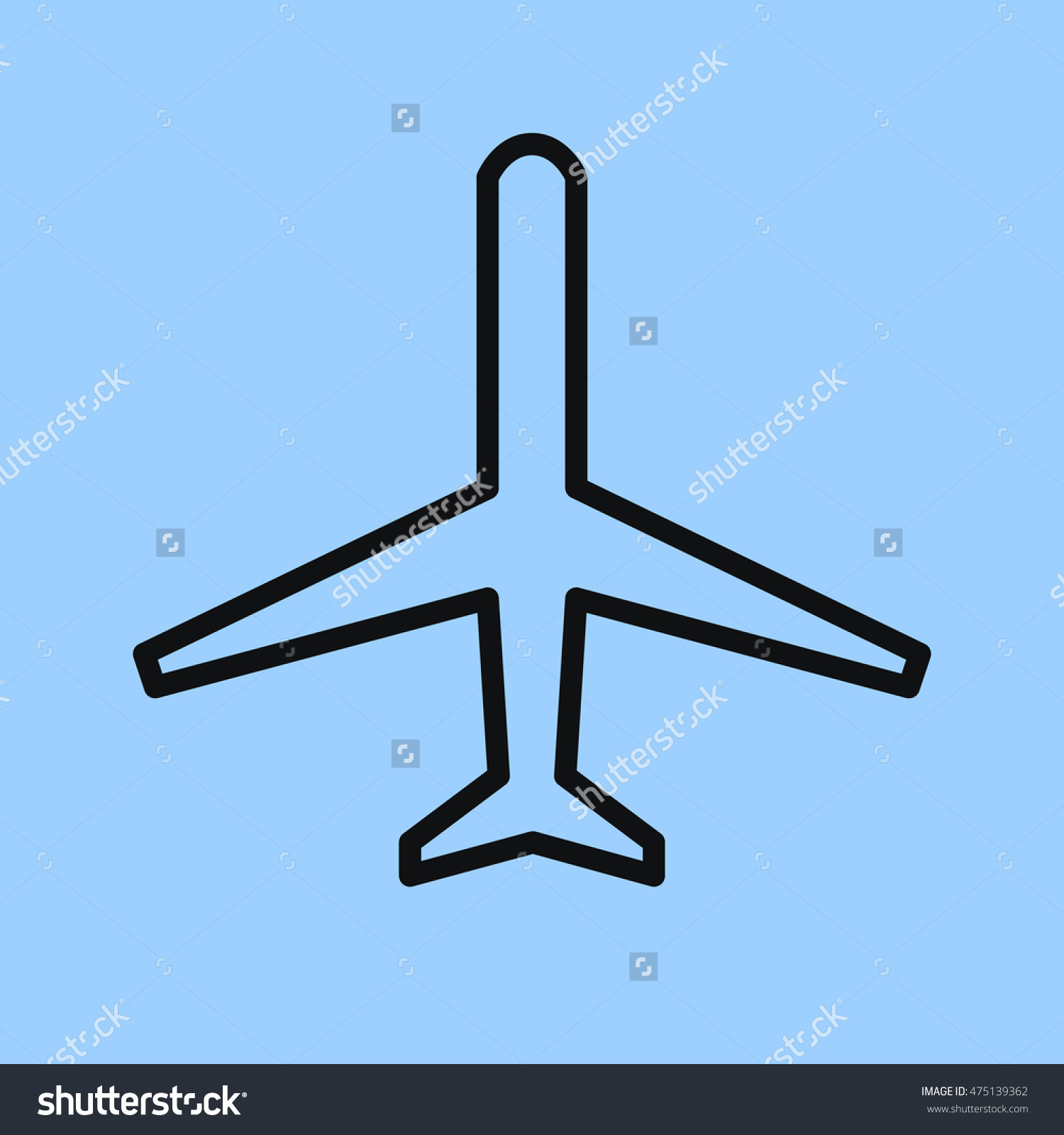 1500x1600 Simple Drawing Of Airplane Airplane Icon Simple Passenger