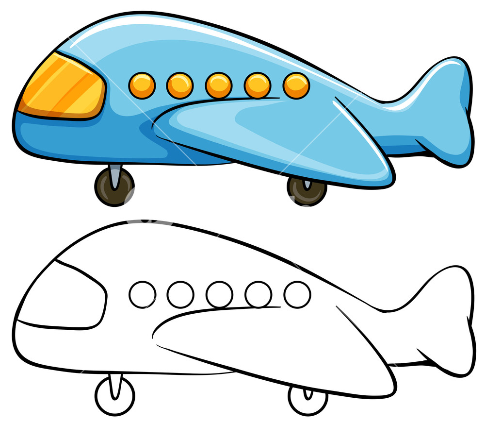 1000x871 Toy Airplane With Simple Drawing Royalty Free Stock Image