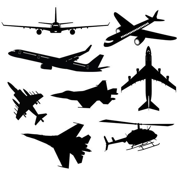 570x550 Airplane Clipart Drawn