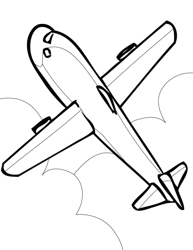 791x1024 Download Coloring Pages. Airplane Coloring Page Airplane Coloring