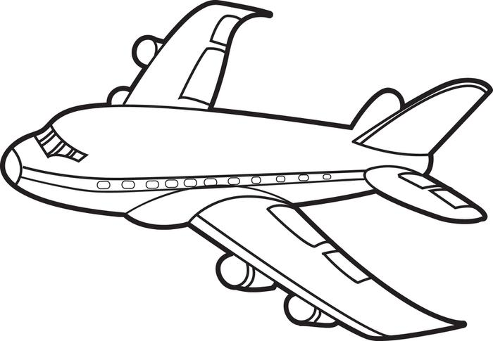 graphic regarding Printable Airplane named Aircraft Drawing For Young children Absolutely free down load simplest Plane