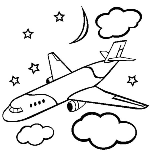 600x612 Transportation Printable Airplane Coloring Pages For Kids