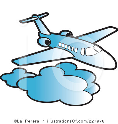 400x420 Airplane Clipart Graphic