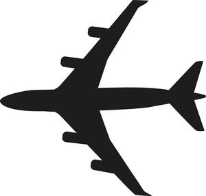 300x286 Airplane 2 Minimal Icon Royalty Free Stock Image