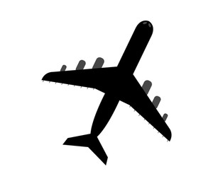 300x263 Illustration Of A Flying Airplane On A White Background Royalty