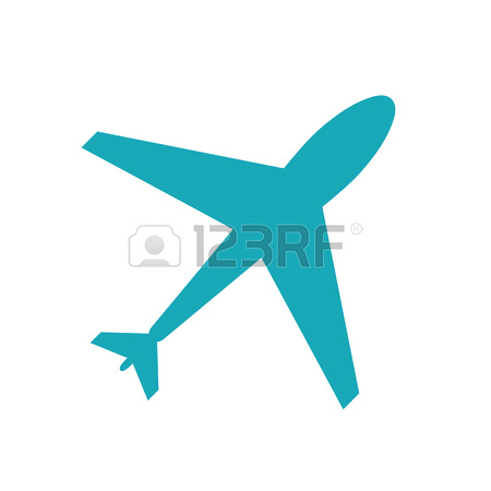 450x450 Web Icon Of Airplane, Plane. Airport Icon, Red Airplane Shape