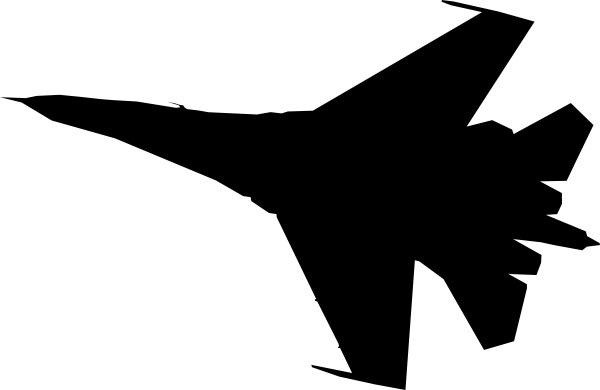 600x390 Airplane Fighter Silhouette Clip Art Free Vector In Open Office