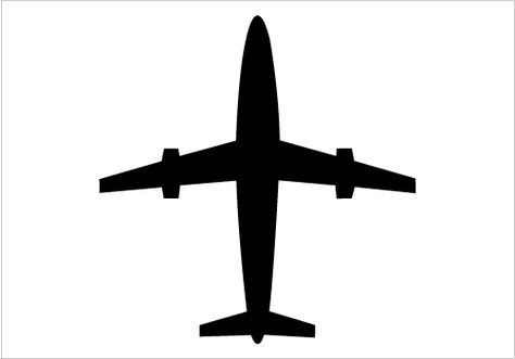 474x331 Airplane Silhouette Vector Graphics Plane Silhouette Illustration