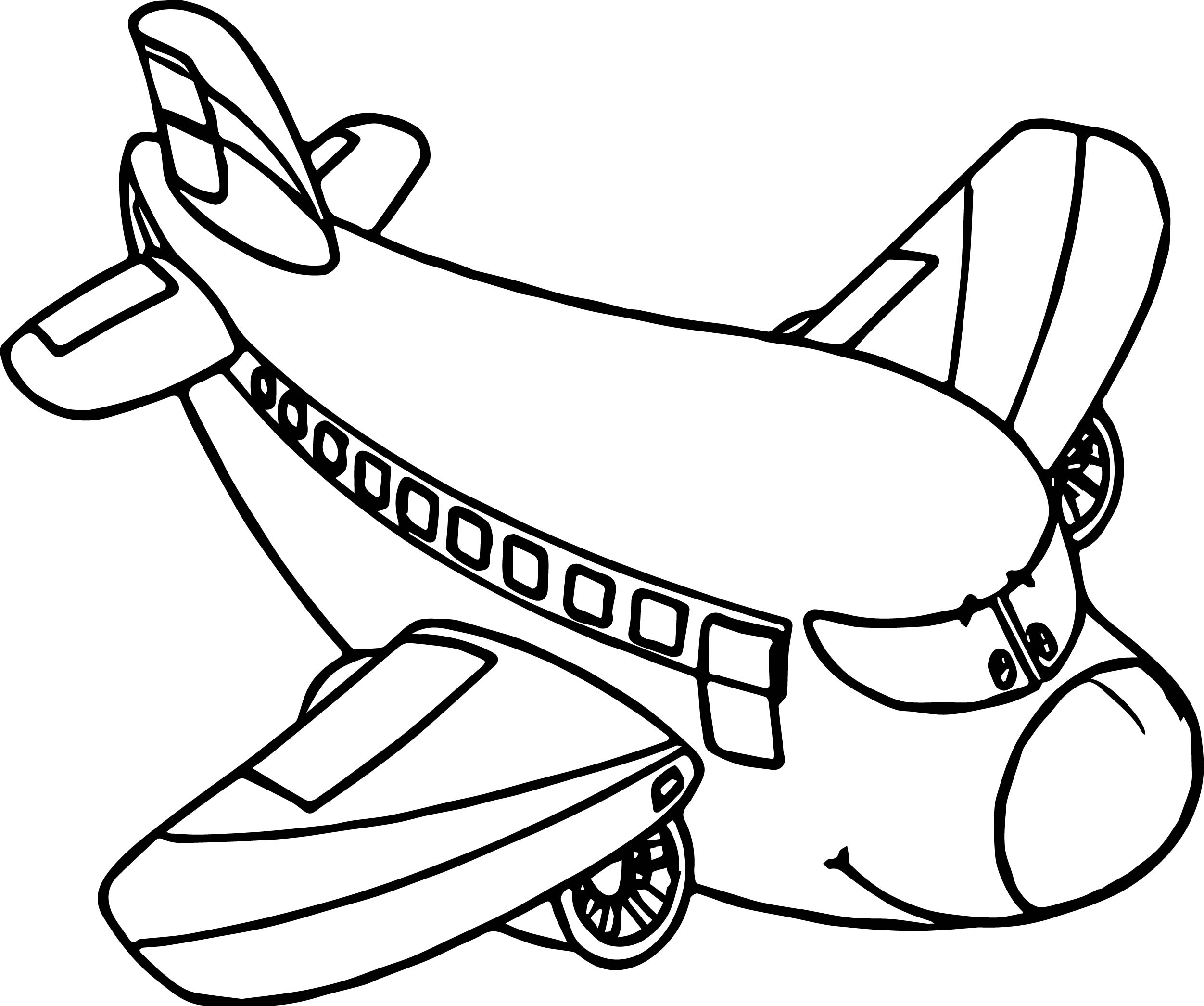 2503x2091 Airplane Cartoon Coloring Page Wecoloringpage