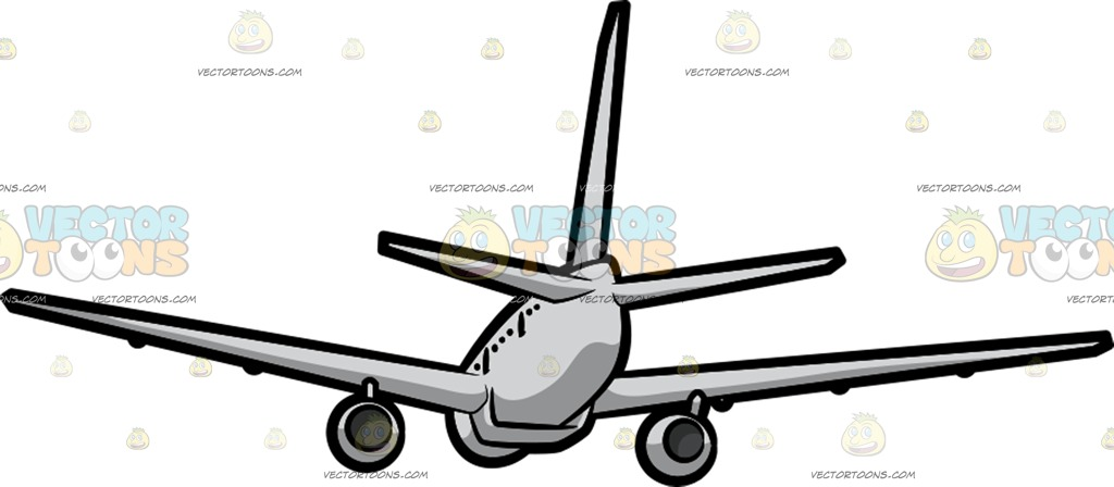 1024x448 An Airplane Flying Away Cartoon Clipart