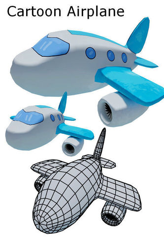 333x500 3d Model Cartoon Airplane Cgtrader