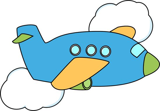 550x382 Image Of Airplane With Banner Clipart