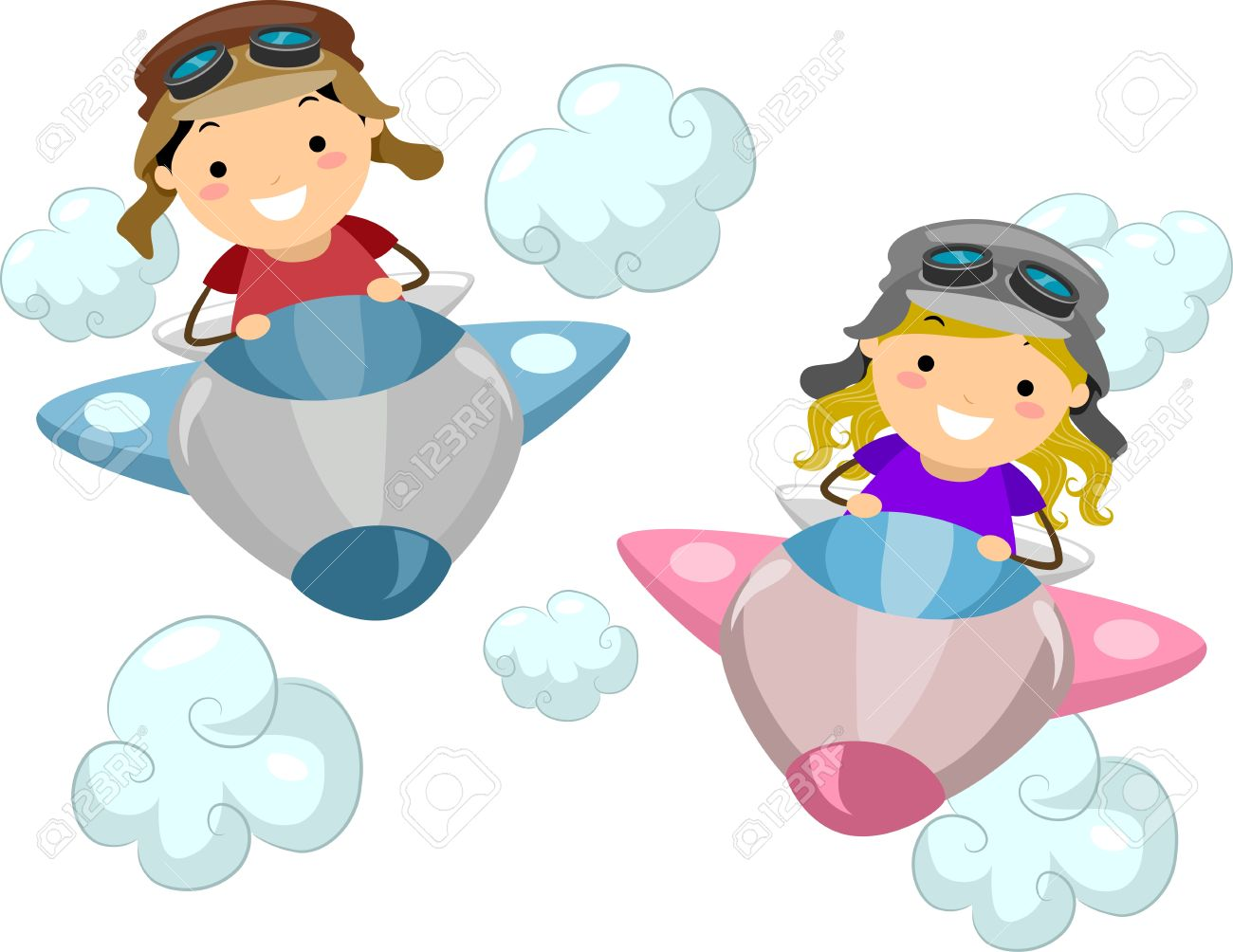 Airplane kid. Images for kids clipart
