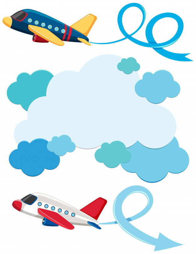 Airplane Taking Off Clipart