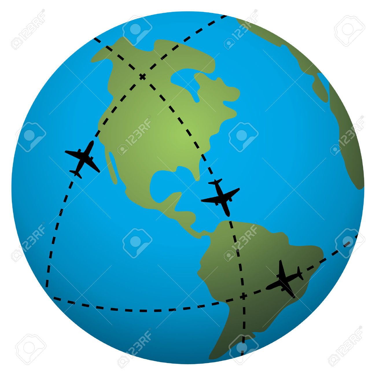 1300x1300 Plane Globe Clipart Explore Pictures
