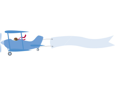 Airplane banner. With clipart free download