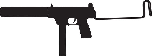 X Assault Rifle Clipart Uzi