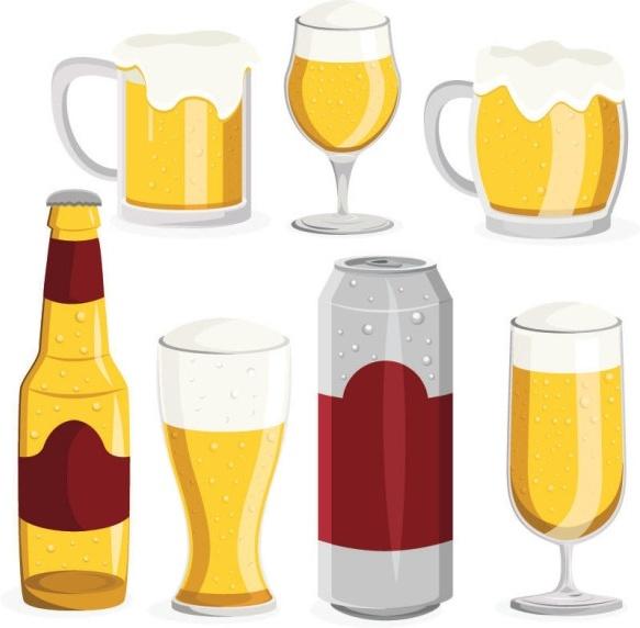 583x572 Beer Bottle Clip Art Free Vector Download (213,791 Free Vector