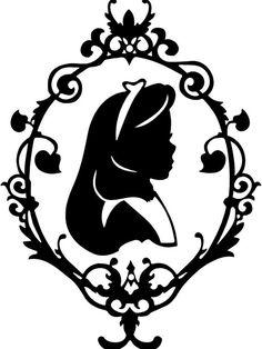236x314 silhouette alice in wonderland silhouette free clip art
