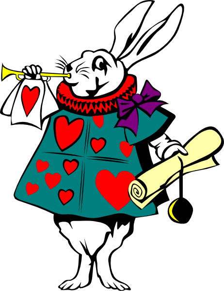462x599 Alice In Wonderland Rabbit Clip Art