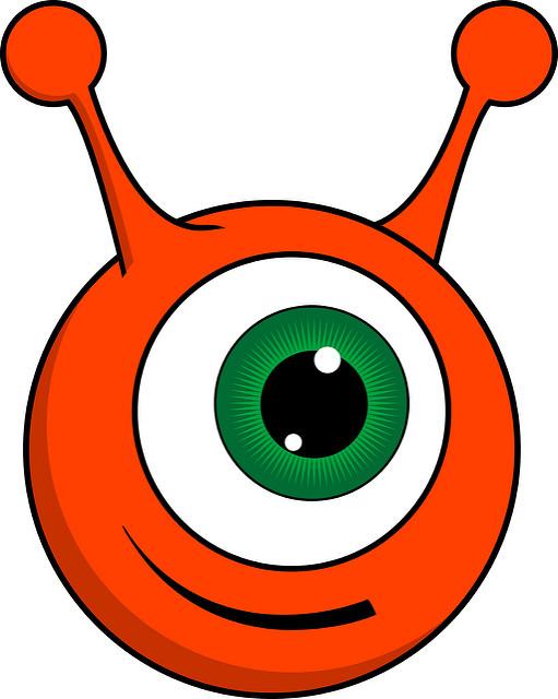 511x640 Alien Clipart Orange Alien