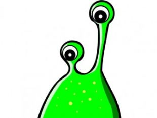 310x233 Green Alien Mask Clip Art Free Vectors Ui Download
