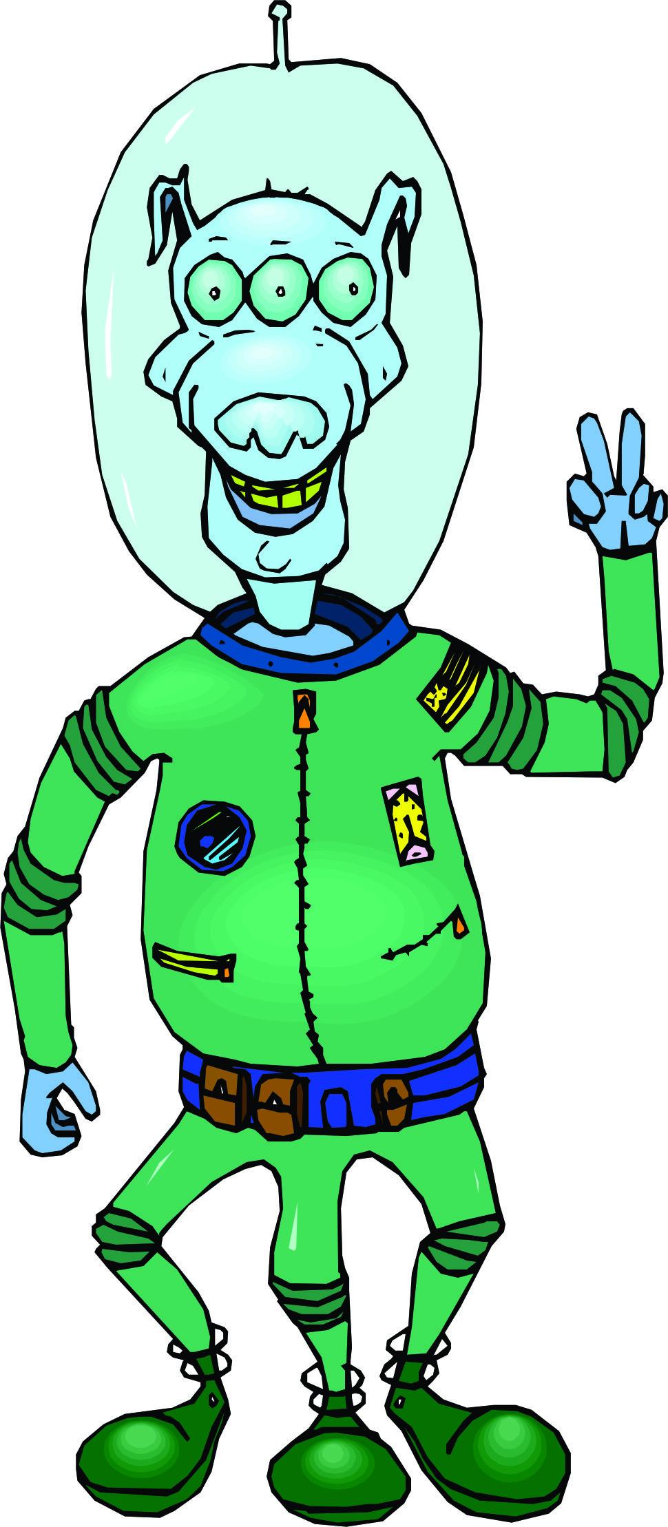 970x2218 Space Clipart Cartoon Alien