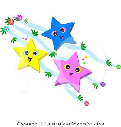 400x420 Falling Stars Clipart Row Star