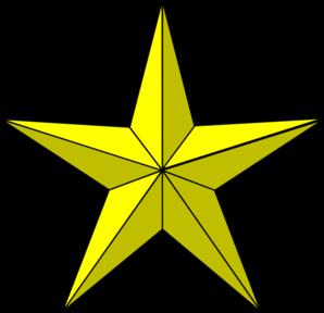 298x288 Gold Star Clip Art