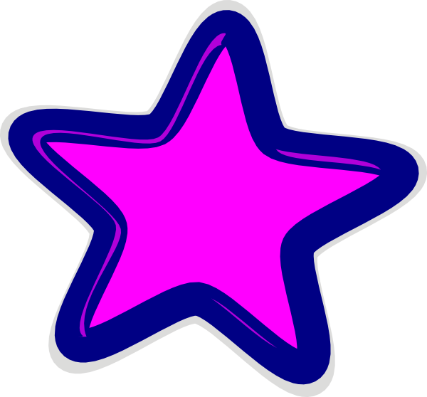 600x558 Pink Star Clip Art