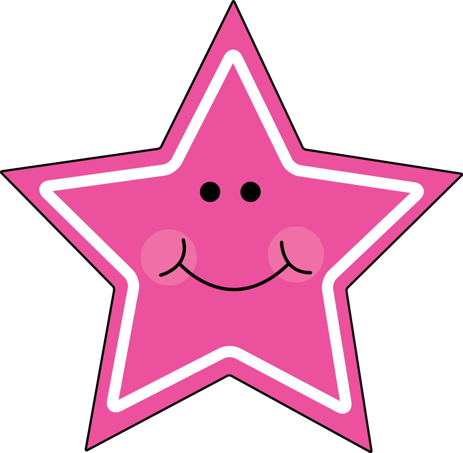 1600x1567 Pink Star Clip Art Clipart Image