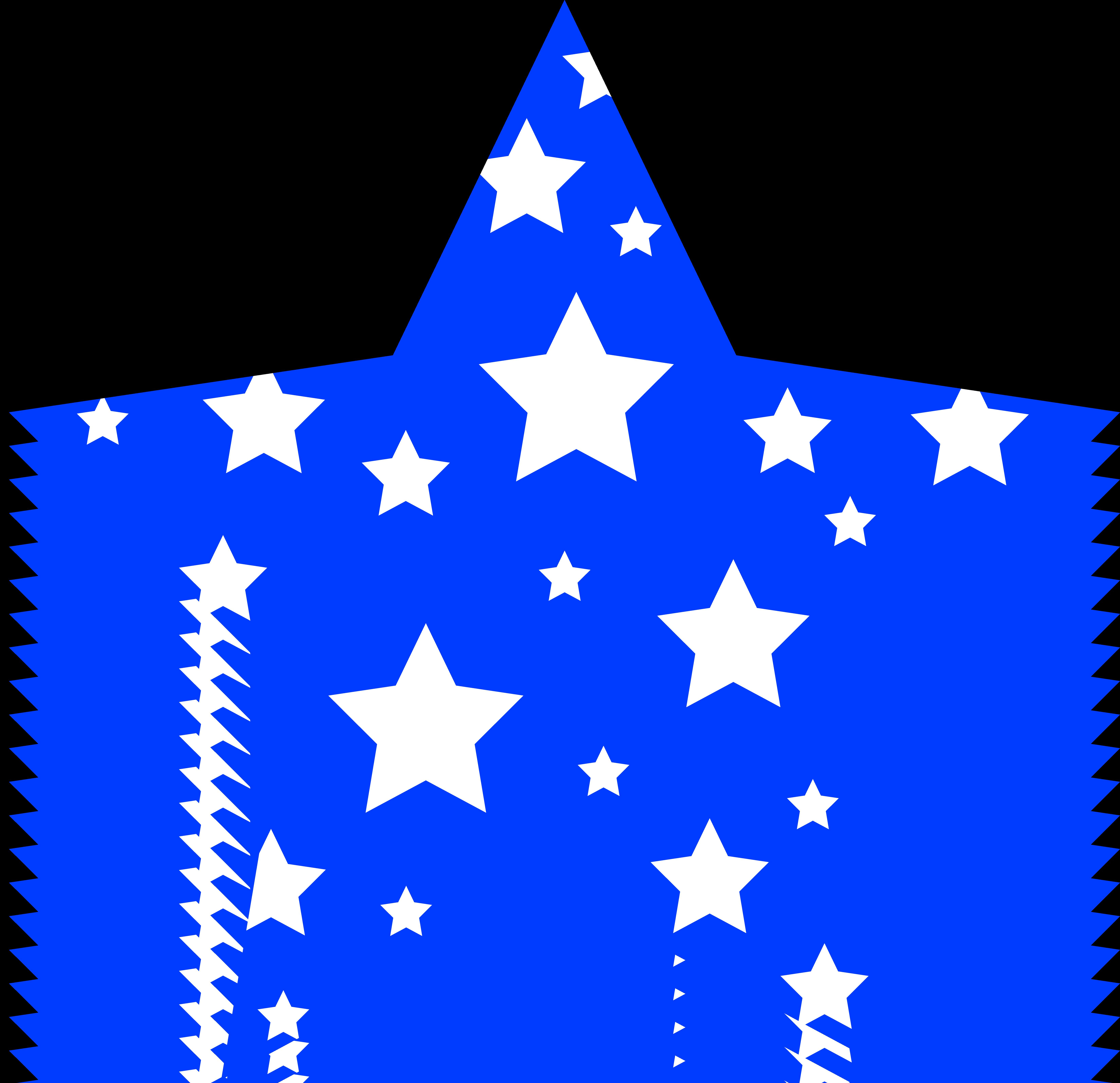 6598x6383 Blue Star Clipart