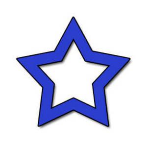 300x300 Blue Star Clip Art Clipart