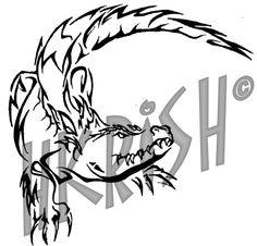 236x226 Alligator Outline Cute Alligator Outline Crocodile Tattoo
