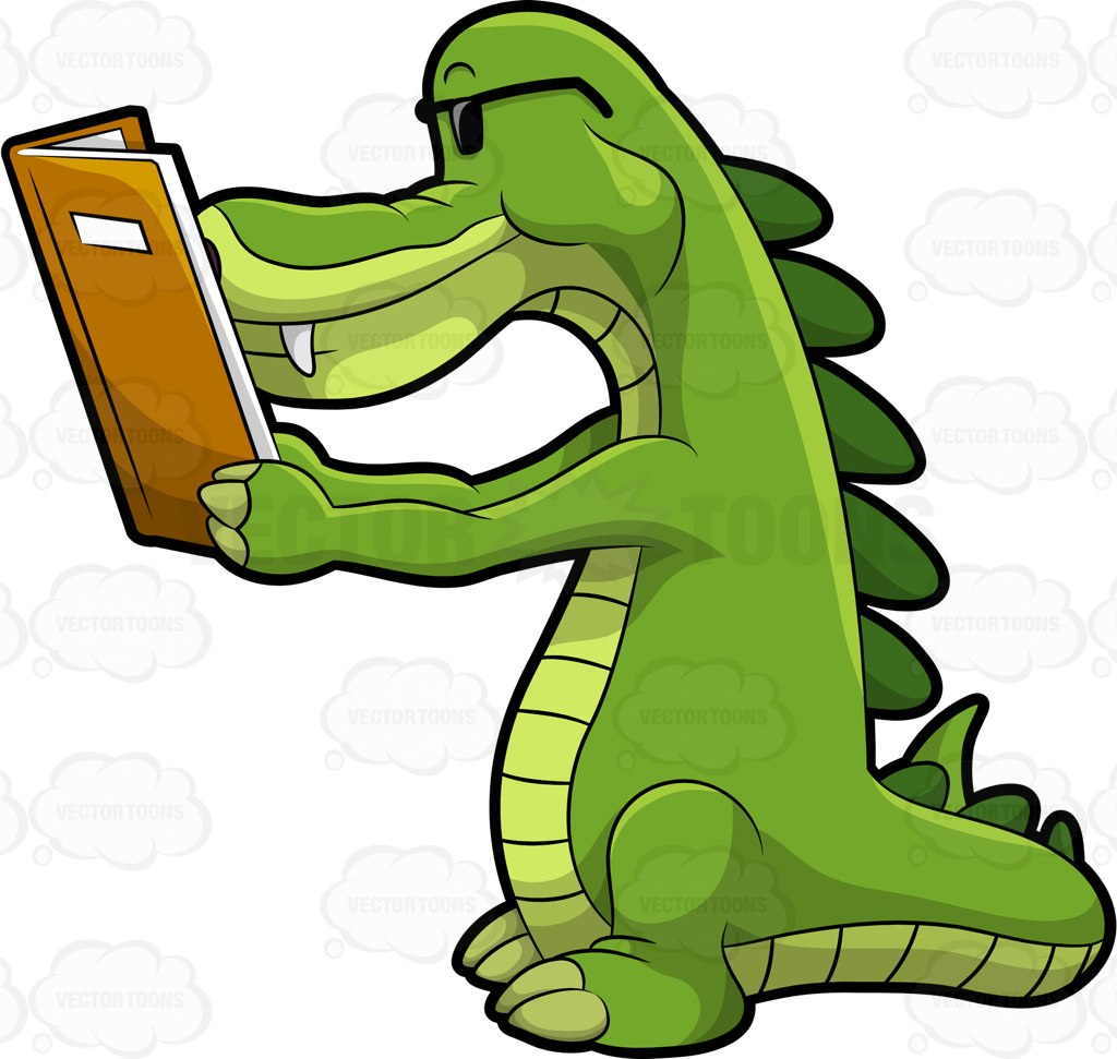 1024x971 Arthur The Alligator Reading A Book Cartoon Clipart