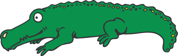 600x191 Cartoon Alligator Clip Art